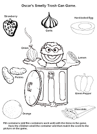 My Five Senses Coloring Pages Another