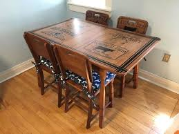 repurpose furniture ideas. refinished kitchen table u0026 chairs with beautiful stenciling repurpose furniture ideas