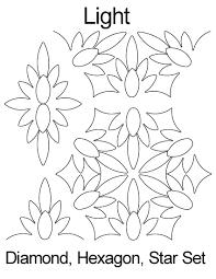 Anne Bright Designs Light Hexagon Diamond Star Set