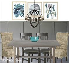 rustic chandelier mixed with modern farmhouse dining room style worthing court