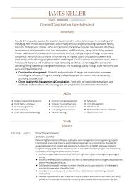 Resume For Construction Worker Pleasant Construction Site Manager Sample Resume With Construction