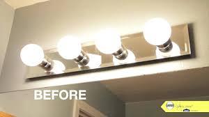 install bathroom light fixture no junction box fixtures