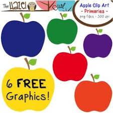 teacher apple clipart no background. free apples set: clip art graphics for teachers {primaries} teacher apple clipart no background