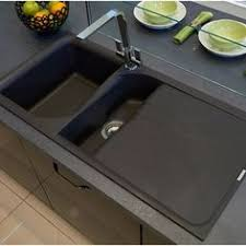 black kitchen sinks and faucets. Reginox Ego 1.5 Bowl Black Granite Composite Kitchen Sink With Reversible Drainer \u0026 Waste Kit - 1000 X 500mm Sinks And Faucets