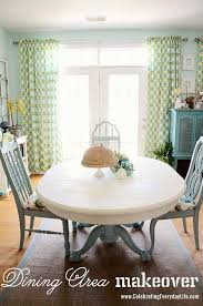 painted dining room set. dining table and chairs makeover with annie sloan chalk paint, old white painted room set
