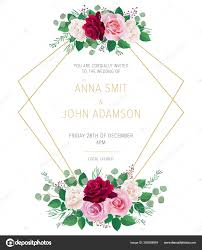 Red Save The Date Cards Wedding Floral Template Collection Wedding Invitation Thank