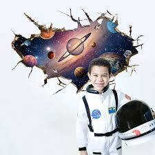 solar system 3d wall sticker home decor kids bedroom outer space pvc art removable decal children on solar system 3d wall art with solar system 3d wall sticker home decor kids bedroom outer space pvc