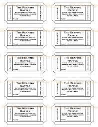 Free Numbered Raffle Ticket Template Wordsresumepages Ml
