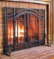 glass fireplace screens hearth and home fireplace screens plow hearth two door fireplace screen with glass glass fireplace screens