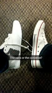 converse vs vans. (starting)which one should i buy: the vans or converse? converse vs