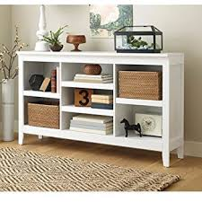 Threshold Carson Horizontal Bookcase, White Finish