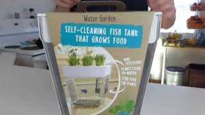 Self Cleaning Fish Tank Garden Back To The Roots Aquafarm Unboxing Demo And Review Youtube