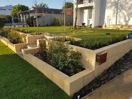 limestone garden edging retaining