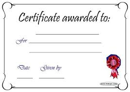 Award Blank Blank Certificate Award Blank Certificate Blank