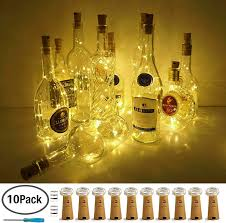 Amazon Cork Bottle Lights Amazon Com Lovenite Wine Bottle Lights With Cork 10 Pack