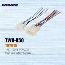 liislee for toyota 1987 2013 male iso radio wire cable wiring liislee for toyota 1987 2013 male iso radio wire cable wiring harness car stereo
