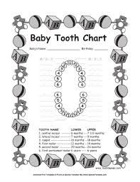 When Do Babies Get Teeth Chart Fillable Online Free Baby Tooth Chart Fun Chart For