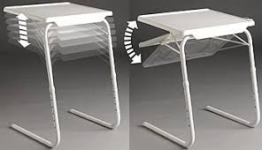 tv tray tables. slides right up with just one finger until it touches your body 2 minute assembly without any tools or fasteners. ideal for people in limited space tv tray tables
