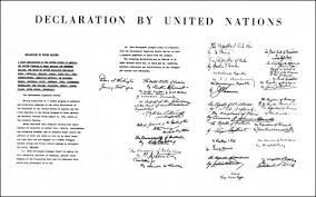 1942 Declaration Of The United Nations United Nations