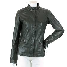 details about auth emporio armani lamb leather jacket black 44 women 90050712