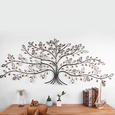 details about metal iron tree of life leaves wall art hanging retro garden home hallway decor