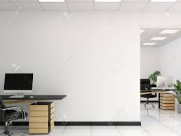 office wall art. Illustration - Office Wall Mock Up Interior. Art. 3d Rendering, Art