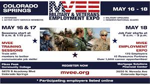 job fairs in colorado springs mvee military veterans employment expo 16 17 training sessions at pikes peak community college 18 job fair mortgage solutions financial center