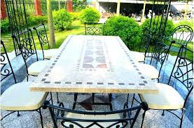 tile outdoor table small tile outdoor coffee table
