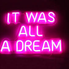 Dream Light Up Wall Decor Details About It Was All A Dream Neon Led Sign Light Club Wall Room Artwork Poster Decor Light