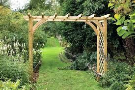 large pergola arch wooden garden kits australia