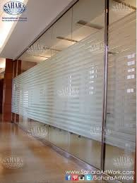 clear office. Office Door And Partitions, Made From Clear Glass \u0026 Sandblasted Stripes, With ROYAL°