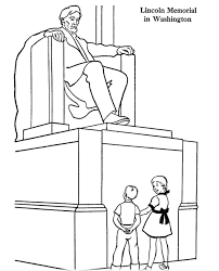 lincoln memorial coloring page