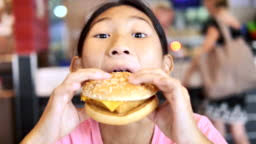 Asian Woman Eating Pizza In Restaurant Stock Video - Download Video Clip  Now - iStock