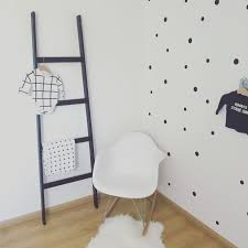 Babykamer Zwart Wit Met Stippen Behang Black And White Babyroom