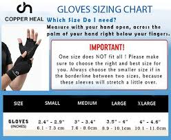 Copper Fit Gloves Size Chart Copper Heal Arthritis Compression Gloves Ultimate Copper