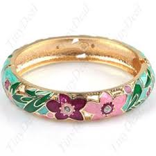 "<b>Браслет</b> Tinydeal ""Charming Bracelet Bangle Cuff w/ <b>Flower</b> Pattern ..."