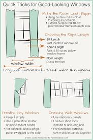 creative ideas standard curtain lengths bold idea remodelaholic universal tricks for good looking panels