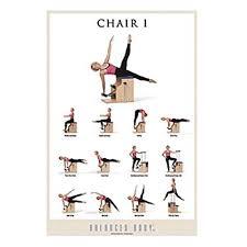 Malibu Pilates Chair Exercise Chart Amazon Com Balanced Body Exercise Poster Chair I