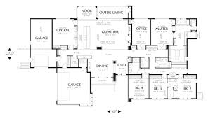 modern house plan with 4 bedrooms and 3 5 baths 4364 large plans 7 1 large