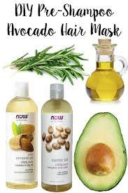 diy pre shampoo avocado hair mask