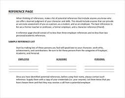 who to list as a reference sample reference page template 9 documents in pdf
