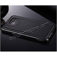 luxury aluminum metal case genuine leather case cover for samsung galaxy note 5