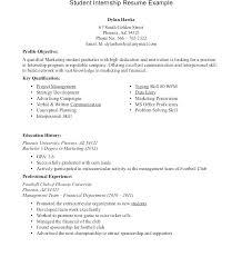 Summer Internship Resume Examples Ptctechniques Info