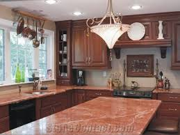 kantia red marble kitchen countertop