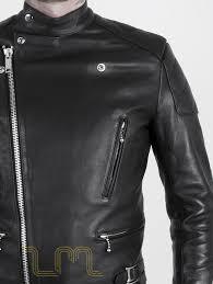 leather cafe racer biker jacket invictus by leather monkeys image one