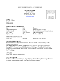 Performing Arts Resume Sample - http://resumesdesign.com/performing-arts