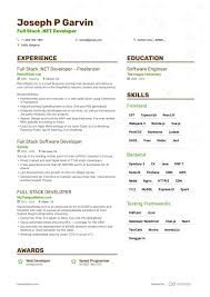 Virtual Resumes Full Stack Developer Resume Example Expert Tips