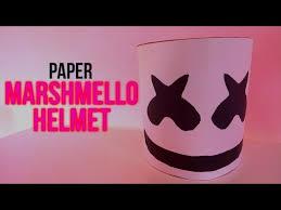 how to make paper marshmello s helmet easy diy tutorial