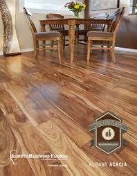 albany acacia hardwood flooring a great contrast to natural hickory cabinets