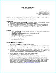 Resume Headline In Naukri For Testing Resume For Study